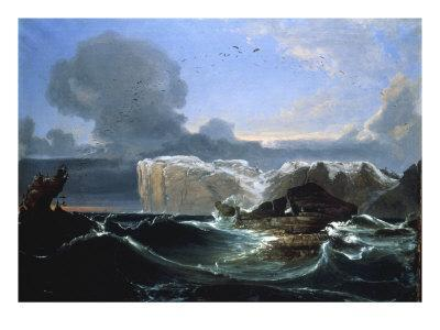 Stormy Seas by the Cliffs, 1845