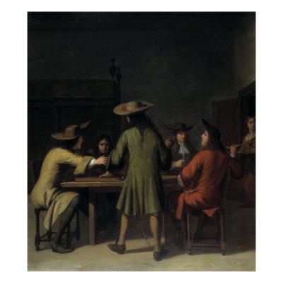 Interior with Cavaliers Smoking