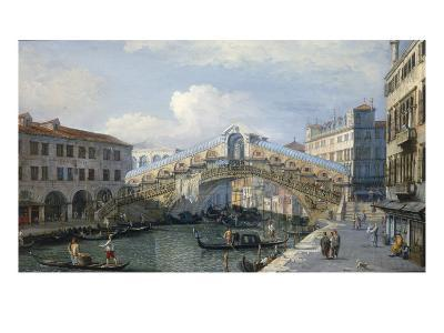 Venice, the Grand Canal, the Rialto Bridge from the South