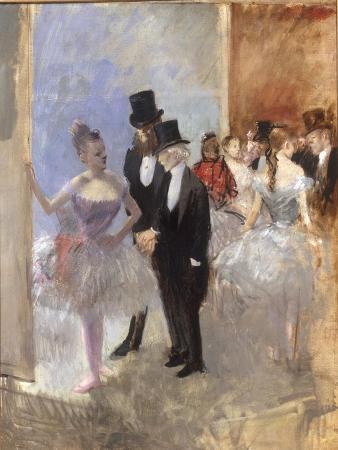 Les Coulisses de l'Opera, c.1887-90