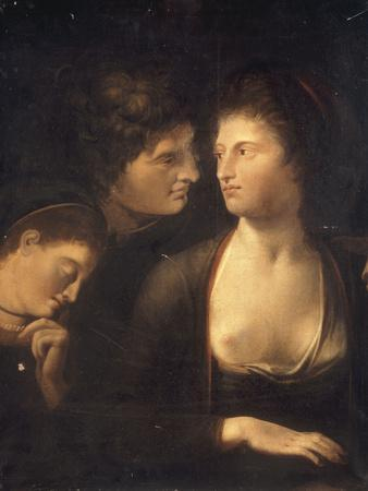 Lysander with Helena and Hermia from 'A Midummer Night's Dream', c.1780-85