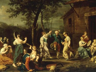 Peasants Dancing and Making Music in a Landscape