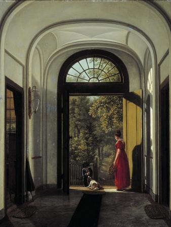 The Artist's Wife and Child in the Hall of their House on the Lijnbaansegracht