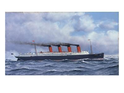 The Liner 'Lusitania', 1908