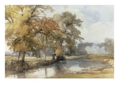 Trees on a Riverbank, Eaton, Norwich, 1847