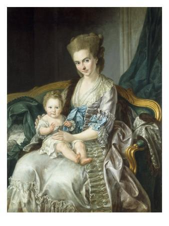 Portrait of Duchess Luise von Sachsen-Weimar, Princess of Hessen