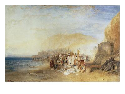 Hastings: Fish Market on the Sands, Early Morning, 1824