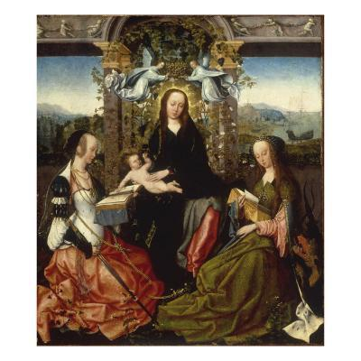 Madonna and Child Crowned with Angels, and Saints Catherine of Alexandria and Margaret of Antioch