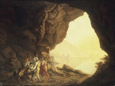 A Grotto in the Kingdom of Naples, with Banditti, at Sunset, c.1777-78