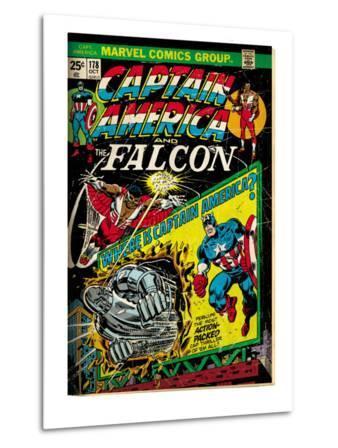 Marvel Comics Retro: Captain America Comic Book Cover No.178, with the Falcon (aged)