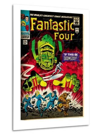 Marvel Comics Retro: Fantastic Four Family Comic Book Cover No.49, If This Be Doomsday! (aged)