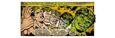 Marvel Comics Retro: The Incredible Hulk Comic Panel, Bruce Banner Transforming (aged)