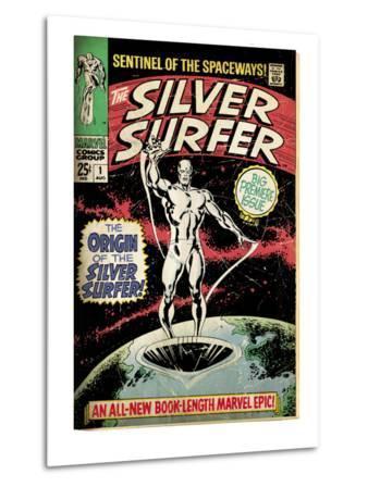 Marvel Comics Retro: Silver Surfer Comic Book Cover No.1, Origin (aged)