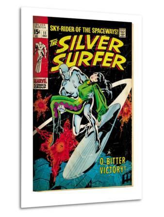 Marvel Comics Retro: Silver Surfer Comic Book Cover No.11, Bitter Victory (aged)