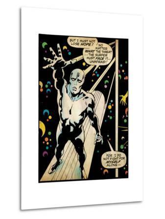 Marvel Comics Retro: Silver Surfer Comic Panel (aged)