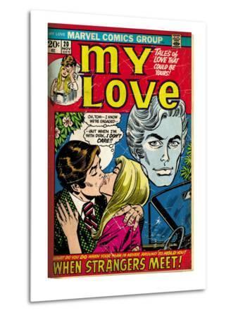 Marvel Comics Retro: My Love Comic Book Cover No.20, Kissing, When Strangers meet! (aged)