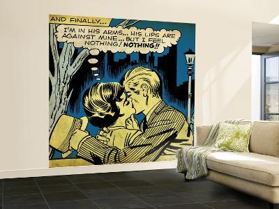 Marvel Comics Retro: Love Comic Panel, Kissing in the Park (aged)