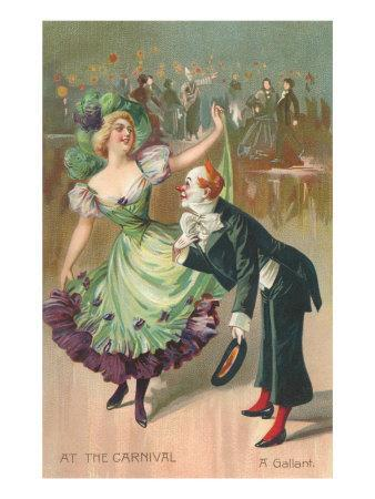 Clown and Dancer at Carnival, A Gallant