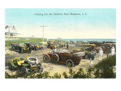 Cars at Beach, East Hampton, Long Island, New York