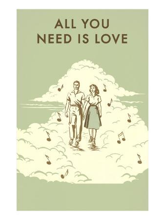 All You Need is Love, Couple Walking in Clouds