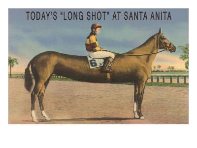 Elongated Horse, Today's Long Shot at Santa Anita, California