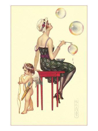 Flapper Blowing Bubbles