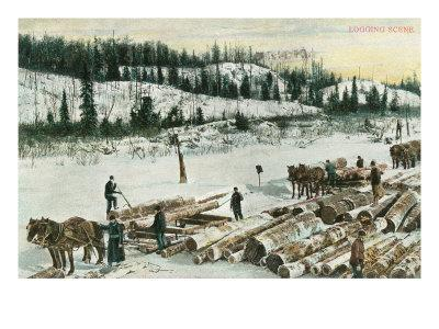 Winter Logging Scene