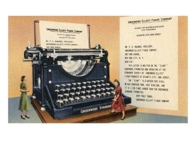 Giant Old-Fashioned Typewriter
