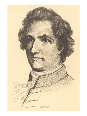 Pencil Sketch of Goethe