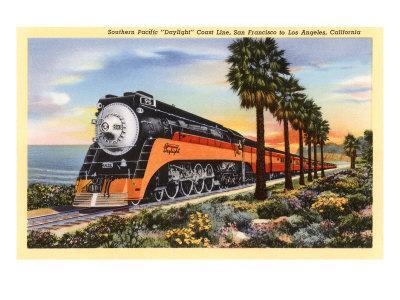 Train Near Los Angeles, California