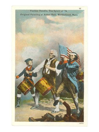 Yankee Doodle Painting, Marblehead, Mass.