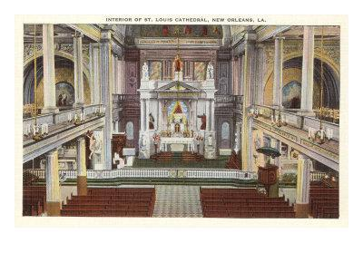 Interior, St. Louis Cathedral, New Orleans, Louisiana