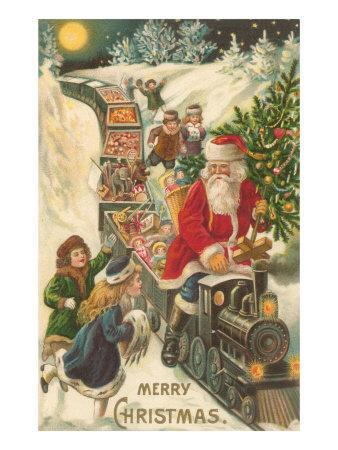 Merry Christmas, Santa on Train