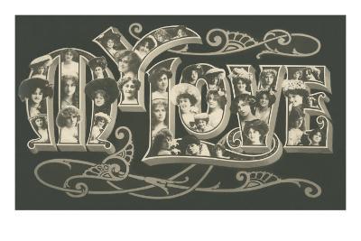 Women in Large Letters, My Love