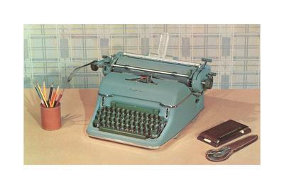 Manual Typewriter on Desk