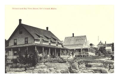 Houses on Orr's Island, Maine