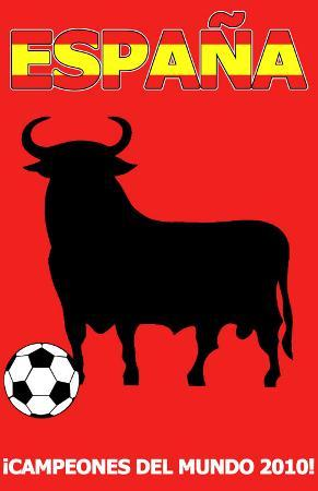 2010 Football Champions - Spain.  Espana - Campeones del Mundo 2010!