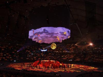 Dancers Perform During the Opening Ceremony for the Vancouver 2010 Olympics