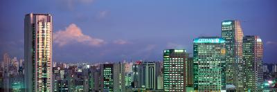 Itaim Bibi Office Towers Dusk Sao Paulo Brazil