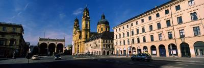 Buildings at a Town Square, Feldherrnhalle, Theatine Church, Odeonsplatz, Munich, Bavaria, Germany