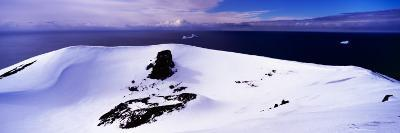 Snow Covered Hill at the Seaside, Penguin Island, South Orkney Islands, Antarctica