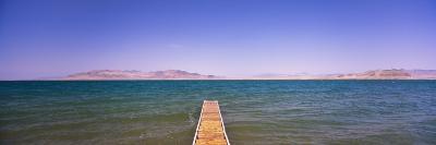 Pier on a Lake, Pyramid Lake, Nevada, USA