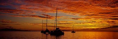 Sailboats in the Sea, Tahiti, French Polynesia