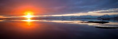 Sunset over the Sea, Hornafjordur, Iceland