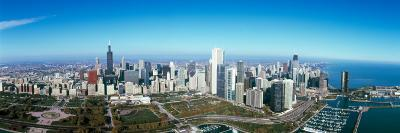 View of a Park in a City, Millennium Park, Lake Michigan, Chicago, Cook County, Illinois, USA