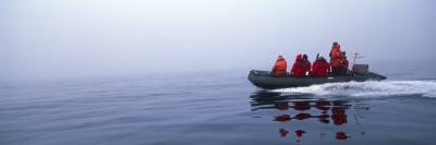 Eco-Tourists Boating in the Sea, Zigzag Island, South Orkney Islands, Antarctica
