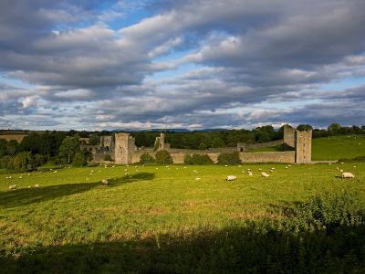 15th Century Walls around Augustinian Monestary, Kells, County Kilkenny, Ireland