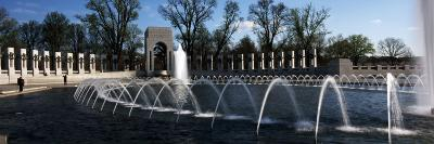 Fountains at a War Memorial, National World War Ii Memorial, Washington Dc, USA