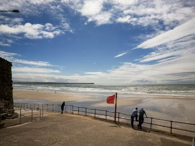 Promenade, Beach and Distant Brownstown Head, Tramore, County Waterford, Ireland