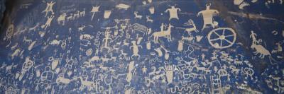 Petroglyphs Carved on Rock Face, Newspaper Rock Park, Canyonlands National Park, Utah, USA